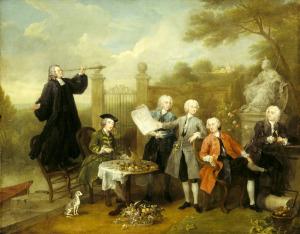 THE HERVEY CONVERSATION PIECE by William Hogarth (1697-1764) at